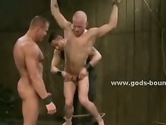 Large chains leishes are used by big gay boys to tame their wild sex slaves naked
