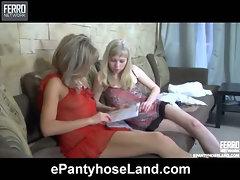 Nora&Paulina naughty pantyhose movie