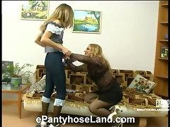 Maria&Etta naughty pantyhose action
