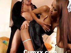 Ebony Katia de lys fucked hard by old guy