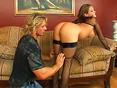 Tory Lane spitting on cock before analized