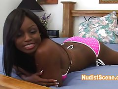 Interview with a hot ebony girl