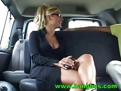 Sexy blonde Rene gets fucked on the BangBus