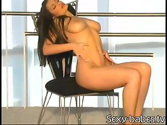 Aria Giovanni the exhibitionist shows off her hot body