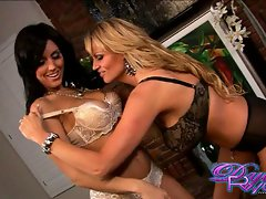 Dylan Ryder gets her lover hot pre sex by flashing her pussy and breasts to him