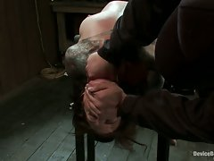 Watch this slave beg for more as her sweet, tender nipples are tortured.
