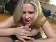 Julia Ann knows that her mouth was made for blowing horny dicks