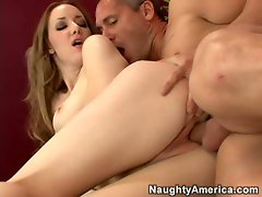 Audrey Elson shows off her cute little pussy while getting fucked