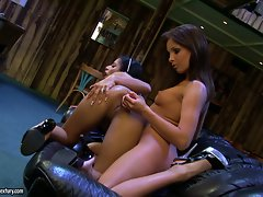 Kyra Black gets fucked by her lesbian lover in her hot ass with a toy