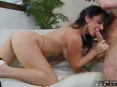 Hot Jayden James sucks a massive hard dick in her juicy mouth