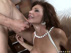 Horny MILF Deauxma receives a warm load of hot cum she deserved