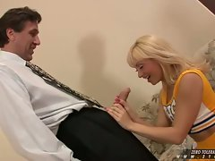 Lea Lexus a big tit horny honey enjoys a big thick cock on her sweet mouth