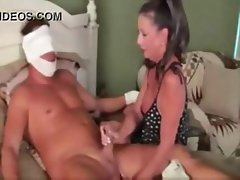 Mature brunette Margo Sullivan smokes cigarette and a cock before fucking