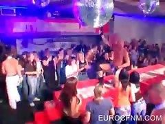 Party sluts watching striptease
