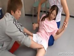 Asian teen gets assets rubbed