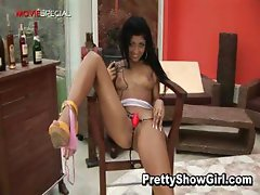 Super hot indian babe working on a big
