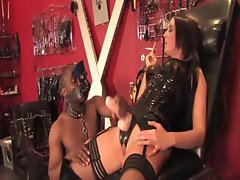 Kinky Femdom clips of these babes in latex dominating men