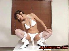 Mature maki miyashita riding a big dildo