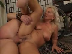Old German lady fucked by a big cock