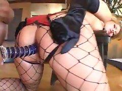 Gagged sex slave makes hardcore fetish porn