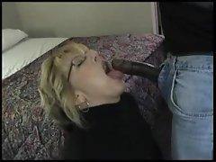 Sexy wife sucks black cock