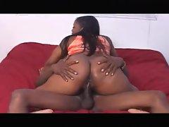 BBC bones a horny black chick hard