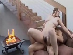 Hairy cunt curvy girl pounded by dick