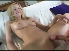 Perfect looking blonde in BJ and tease
