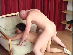 Saggy mature for hard anal sex
