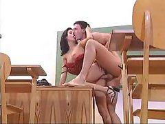 Two teachers fucking in the classroom