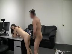 Casting couch suck and fuck with amateur
