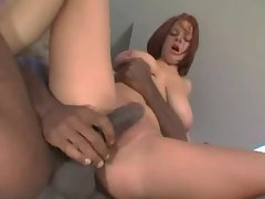 Hot busty ass fucked by black guy