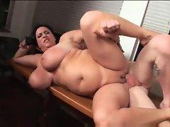 BBW nurse fucked in her fat cunt