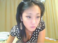 Asian webcam girl tease and strip