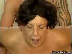 Horny old mom loves getting fucked