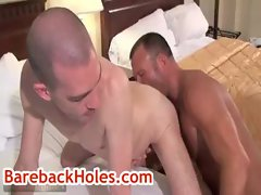 Brock getting his butthole rimmed by fred mayer gay porno