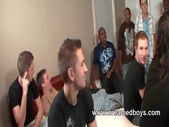 Gay gangbang session