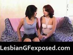 Lovely lesbian girls naked fondling