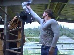 Horny cowboy