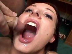 10 Guys Jerk Off In Teen Sluts Mouth