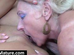 Mature bitch gets slit licked