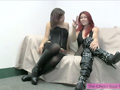 Two cute girls talk about castrating men