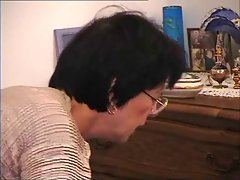 French Old Mom - Cum on Glasses
