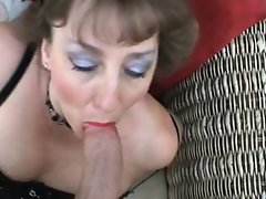 British Mature BJ and facial