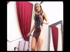 Blonde German Humiliatrix Trains Slave
