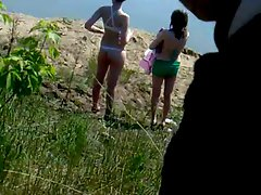 Rus Public CUM Masturb BEACH  Watching Many GIRLS 74 - NV