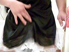 my mom half slips Aunts Petticoat