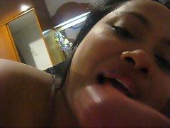 Gman Cum on Face of a Chubby Thai Girl Pt.2