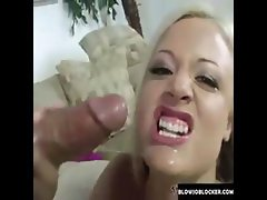 Blonde Gags on Big Dick