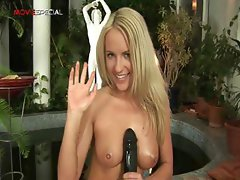 Blonde skanky sexy working on a large part5